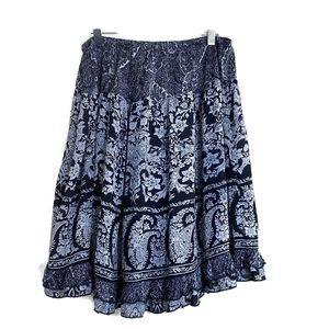 DB established 1962 Boho Paisley Flouncy Skirt